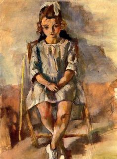 Seated Young Girl, Jules Pascin (1885 – 1930, Bulgarian-born French)