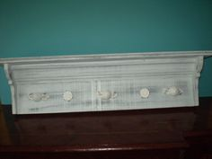 Wall DecorShelf with pegs. Shabby chic by 2riverswoodshop on Etsy, $64.95