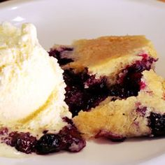 "Best Ever Blueberry Cobbler | ""To make this judiciously sweet cobbler, blueberries are lightly sugared and flavored with orange juice, and then topped with a light and airy batter. And within 40 minutes, this cobbler bakes up bubbly and beautiful."""