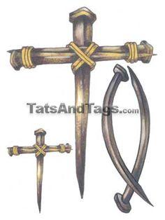 Three Nail Cross I Want This Tattoo
