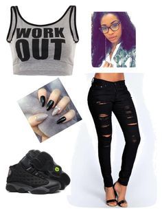 """Work Out"" by nealamyah ❤ liked on Polyvore featuring Boohoo and Retrò"