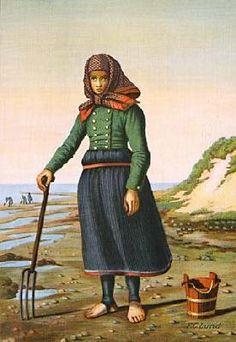 Girl's folkdress from Blåvand, Denmark - Artist: FCLund