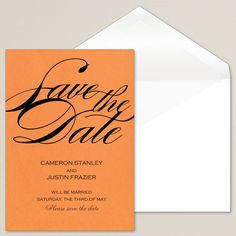 Colorful Pop Save the Date   #exclusivelyweddings