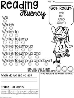 Reading Fluency Phrases These reading phrases are perfect for a quick fluency practice for emergent and/or struggling readers! NO PREP needed :)