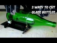 Wine Bottle Cutter 30 seconds Perfect Edge Glass Bottle Cutting GreenPowerScience Guitar Slide - YouTube