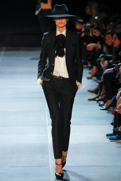 Saint Laurent Spring 2013 Ready-to-Wear Fashion Show - Saskia de Brauw (Viva)