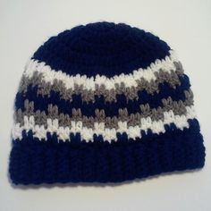 Cute Leaping Stripes and Blocks Beanie. by Liliashairbows on Etsy