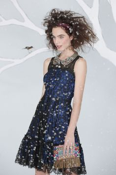 Anthropologie Sapphire Lace Dress    Yum! Count me in. Now lets see how much...