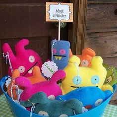 Adopt a Monster - party favors for a monster birthday party