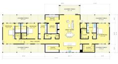 Ranch Style House Plan - 3 Beds 3.5 Baths 3478 Sq/Ft Plan #888-9 Floor Plan - Main Floor Plan - Houseplans.com
