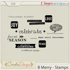B Merry - Stamps by Cornelia Designs