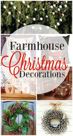 25 Christmas Holiday Inspired Farmhouse Decorations - From pillows to wreaths to ornaments, these 25 Christmas Holiday Inspired Farmhouse Decorations are sure to please anyone who loves that rustic, farmhouse feel!