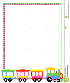 Illustration about Colorful toy train border / frame for kids. Borders For Paper, Borders And Frames, Printable Recipe Cards, Printable Paper, School Border, Origami Templates, School Frame, Page Borders, Morning Greetings Quotes