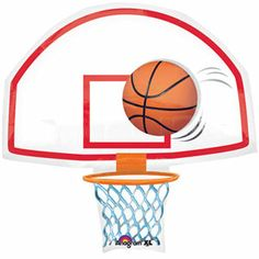printable basketball art basketball goal clip art image rh pinterest com With Goal Basketball Balltransparent Basketball Goal Net