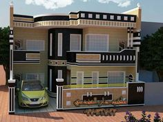 Classic House Design, Unique House Design, Minimalist House Design, Cool House Designs, House Ceiling Design, Home Stairs Design, Home Building Design, 10 Marla House Plan, Simple House Plans