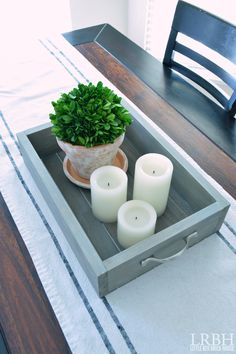 DIY Wooden Tray | LITTLE RED BRICK HOUSE
