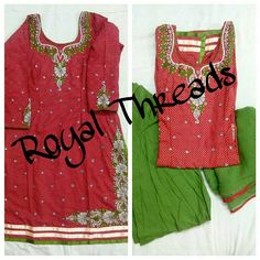 Whatsapp @+919646916105Availaible @royalthreadsboutique. Availaible as stiched and unstiched. Can also be me made in color and fabric of your choice. DM for order RT05 #punjabisuit #salwarkameej #embroidery #tenusuitsuitkarda