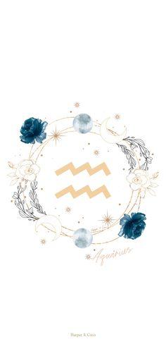 Age Of Aquarius, Zodiac Signs Aquarius, Zodiac Art, Zodiac Star Signs, Bohemian Wallpaper, Aesthetic Pastel Wallpaper, Aesthetic Wallpapers, Iphone Background Wallpaper, Pretty Phone Wallpaper