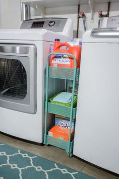More ideas below: Unfinished Basement laundry room Layout Ideas Before And After. More ideas below: Unfinished Basement laundry room Layout Ideas Before And After Basement laundry r Laundry Room Organization, Laundry Room Design, Storage Organization, Storage Shelves, Garage Storage, Organization Ideas For The Home, Laundry Organizer, Storage Cart, Room Shelves