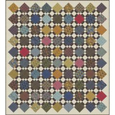 Moda Fabrics William Morris Earthly Paradise Squares Quilt Kit 79 x 88   Precuts from Hancocks of Paducah.
