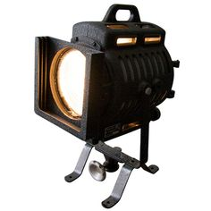 NOS Arri Floor Lamp Baby Spot Theater Movie In Mint Condition spotlight | From a unique collection of antique and modern floor lamps  at https://www.1stdibs.com/furniture/lighting/floor-lamps/