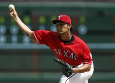 CrowdCam Hot Shot: Texas Rangers starting pitcher Yu Darvish throws to the Oakland Athletics during the seventh inning of a baseball game at Rangers Ballpark in Arlington. The Athletics won 1-0. Photo by Jim Cowsert
