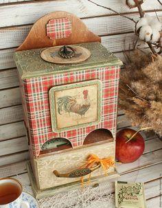 Купить большой чайный домик КАНТРИ - ярко-красный, чайный домик, чайный домик декупаж: