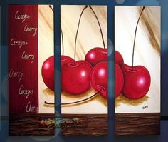cuadros para comedores tripticos 3d Painting, Acrylic Painting Canvas, Acrylic Art, Canvas Art, Margarita, 3 Piece Art, Painted Boards, Leaf Art, Love Drawings