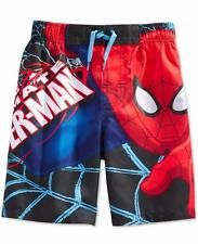 NWT boys Ultimate Spider-man SWIM TRUNKS shorts SIZE 7 swimming suit Spiderman