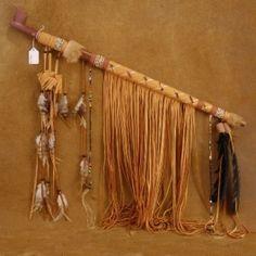 Native American Smokable Peace Pipe Buckskin Beaded Peace Pipe by Andy Abeita