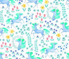 Unicorns fabric by cerigwen on Spoonflower - custom fabric