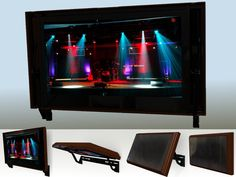 Flip-Around TV mount by Hidden Vision TV mounts.  With a TV on one side and a picture on the other this TV mount flips around to hide or reveal your TV.
