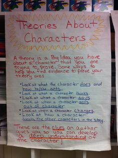 Theories about characters anchor chart