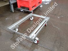 304 grade Stainless steel dollies designed to suit dolav pallet boxes. This is a heavy duty version for food production. Pallet Boxes, Storage Design, Suit, Stainless Steel, Food, Essen, Meals, Yemek, Formal Suits