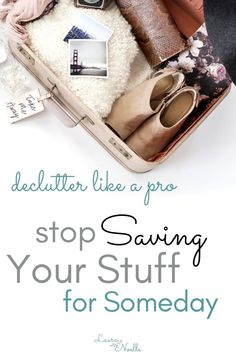 Learn pro decluttering tips for letting go of items that you think you might need someday. Ditch fear and meet your goals with these simple tips for decluttering your home. Declutter Your Life, Minimalist Lifestyle, Minimalist House, Organizing Your Home, Organising Tips, Decluttering Ideas, Life Organization, Simple Living, Getting Organized