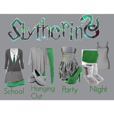 Slytherin, created by gemingirl on Polyvore