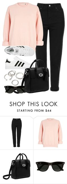 """Style #11507"" by vany-alvarado ❤ liked on Polyvore featuring Topshop, River Island, adidas, Ray-Ban and Forever 21"