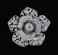 Rose  Rhinestone Brooch Pin Embellishment by simplysassysource, $5.00
