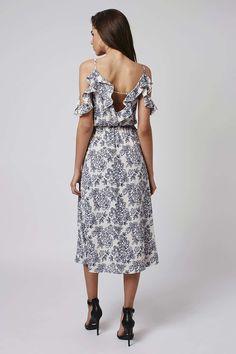 Sleeves Floral Midi Dress - Dresses - Clothing - Topshop USA