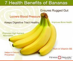 Health Benefits of Bananas Infographic