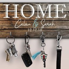 Are you looking to give the bride and groom something that isn't already on their registry? Check out these 28 bridal shower gifts that are totally one-of-a-kind! #bridalshowergifts #uniquebridalshowergifts #bridalshowergiftideas #ModernMOH Wall Mounted Key Holder, Wall Key Holder, Key Holders, Ring Holders, Iphone Holder, Cell Phone Holder, Wooden Pattern, Key Rack, Key Organizer
