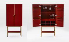 West Elm bar cabinet.