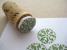 Tutorial showing hiw to make your own stamps from leafandletterhandmade.blogspot.com
