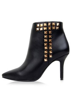 Shop Black Rivet High Heel Leather Shoes online. SheIn offers Black Rivet High Heel Leather Shoes & more to fit your fashionable needs.