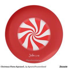 Christmas Plates Agrainofmustardseed.com