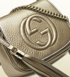 soho metallic leather chain shoulder bag