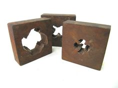 Square Steel Dies Set of 3 Instant Collection by worldvintage