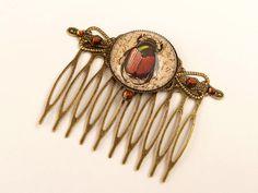 Skarabäus Haarkamm Ägypten Haarschmuck braun bronze Käfer