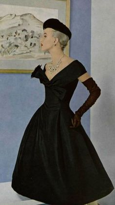 Fashion by Christian Dior, 1955.