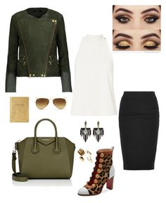"""""""✈️"""" by daegugod on Polyvore featuring MuuBaa, A.L.C., Givenchy, Christian Louboutin, James Perse, Lulu Frost and Ray-Ban"""